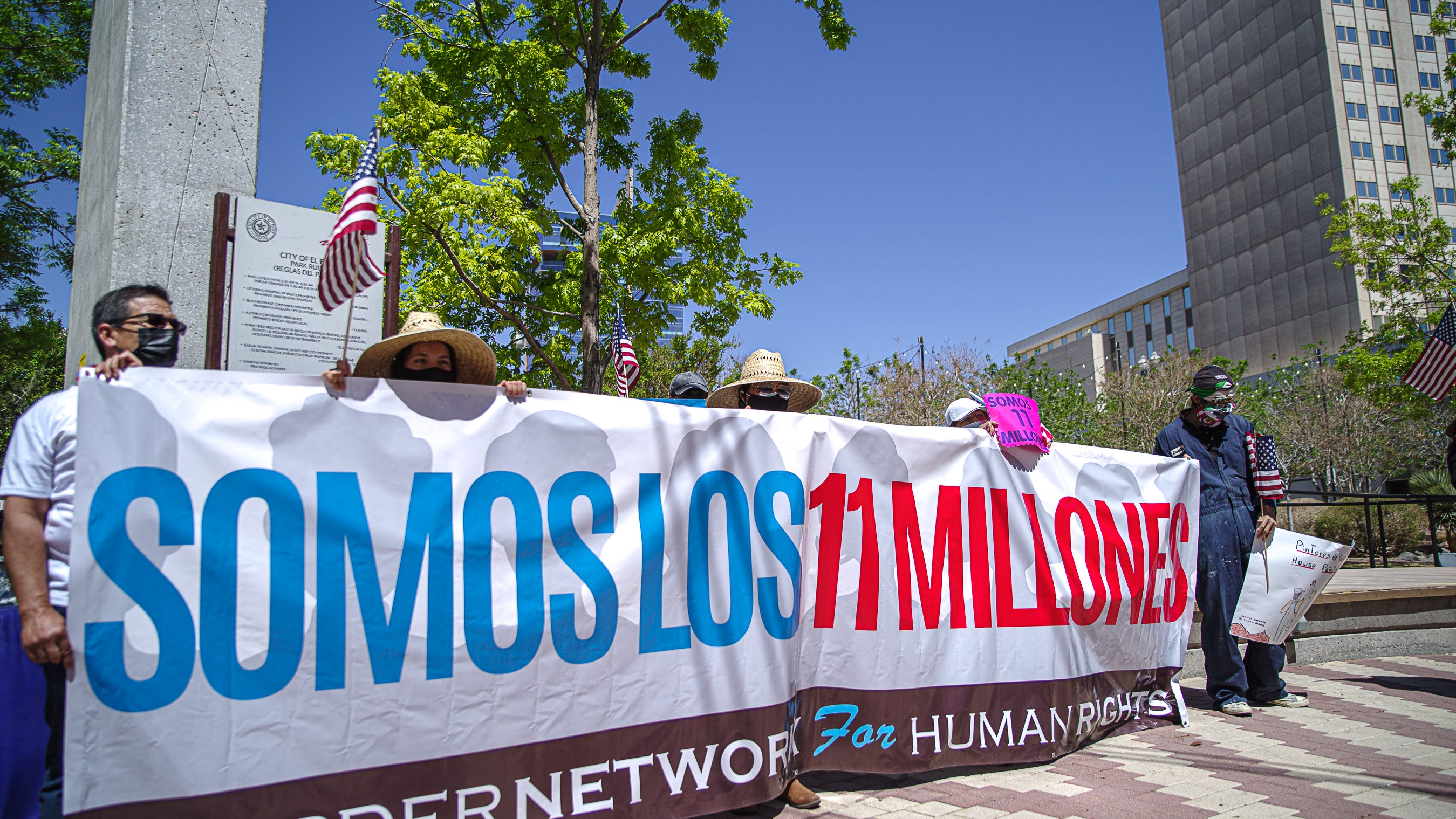 Border Network for Human Rights marches for immigration reform