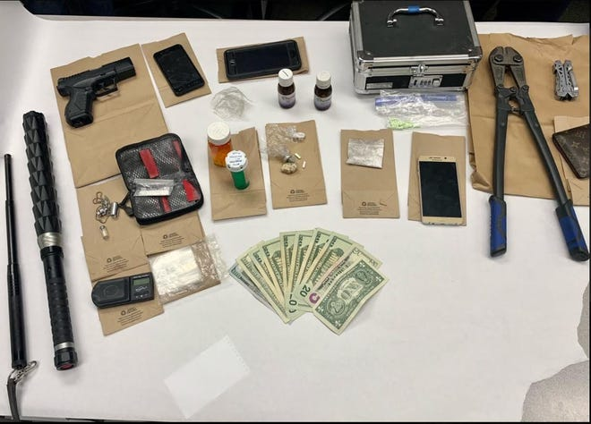 Oxnard police seized fentanyl, alprazolam and evidence of drug sales during a warrant search in April 2021.