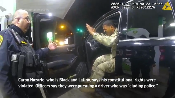 A Black and Latino U.S. Army lieutenant is suing two Virginia police officers who drew their guns and pepper-sprayed him during a traffic stop. (April 9)