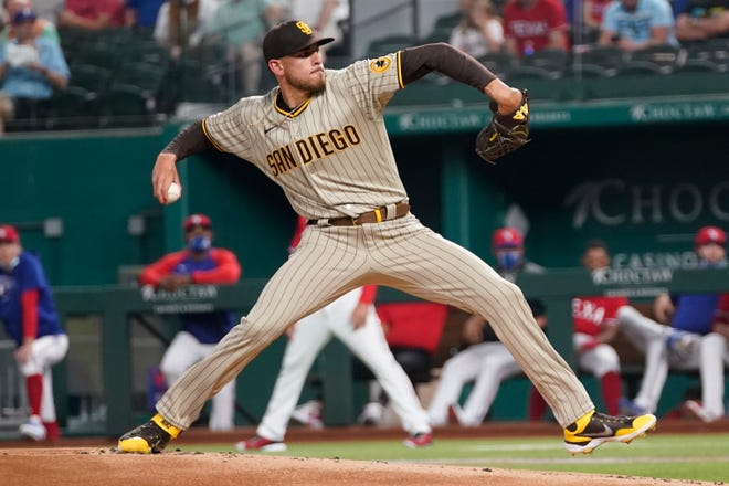 Joe Musgrove-started San Diego Padres player threw the first player in the team's history Friday night in a match against Texas Rangers.