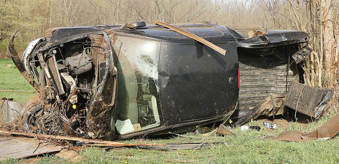 A local man was transported to University Hospitals Samaritan Medical Center after this single-vehicle rollover crash Saturday in Ashland County.
