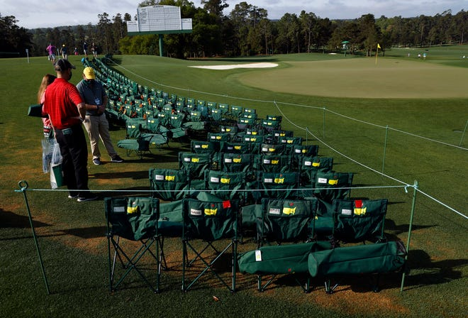A last-minute policy change is allowing patrons to place unattended chairs around the No. 18 green before the start of Sunday's final round.
