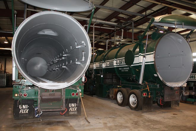 Document Reprocessors designed these 45-foot mobile freeze drying units to be used all over the country.