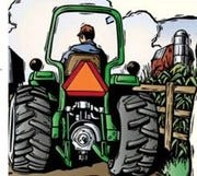As the spring planting season begins, be alert for the orange SMV triangle on the back of farm vehicles and buggies.