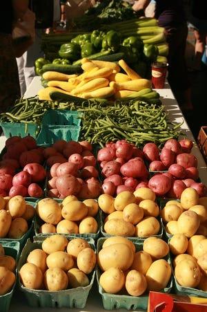 Local produce at the farmer's market in Worthington.(Jodi Miller/Alive)