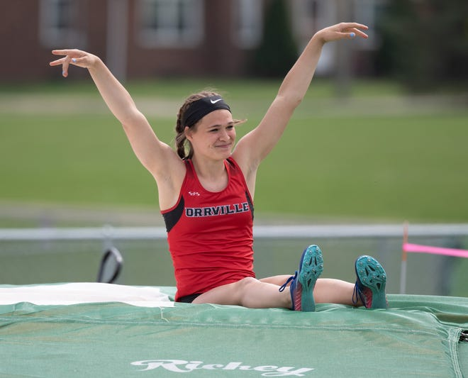Orrville pole vaulter Ainsley Hamsher will be one of the top contenders for a state berth this week.