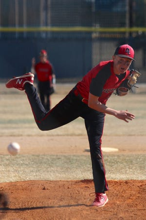 Devils Lake baseball split its series against Bismarck, losing to the Demons 17-5 and defeating them 9-4 on April 10 at Roosevelt Park Legion Field.