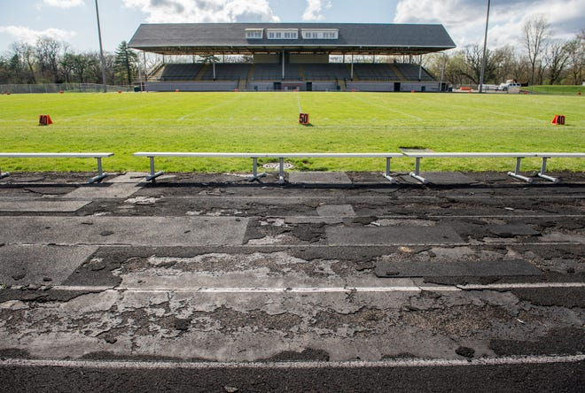 The track around the Peoria Stadium athletic complex continues to deteriorate, but there are no plans to repair or replace it.