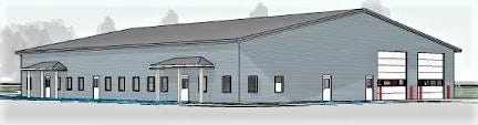 This rendering is what the township's new safety/administrative center could look like from the outside. DS ARCHITECTURE