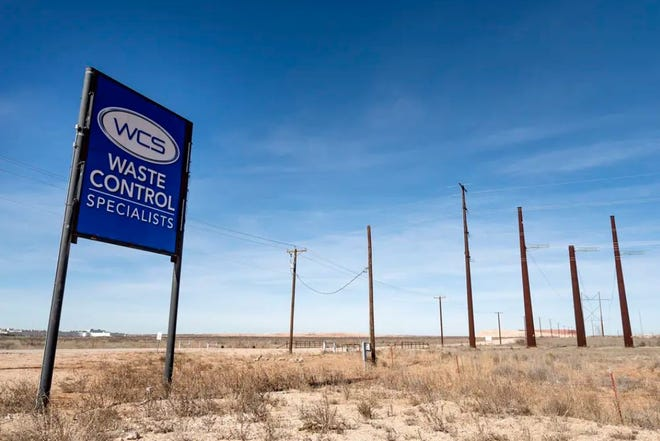 The Waste Control Specialists hazardous waste facility in Andrews County near the Texas-New Mexico border. A bill advancing in the House seeks to ban high-level radioactive waste from being stored in Texas.