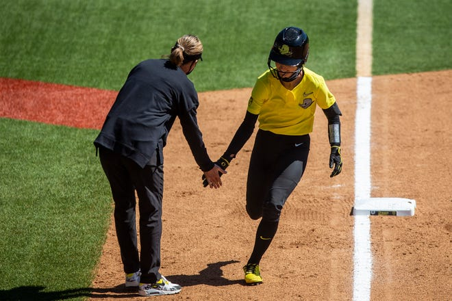 Haley Cruse went 3-for-4 during Oregon's 2-0 victory at California Thursday and is 10-for-14 with four RBIs and a pair of runs scored in the last four games.