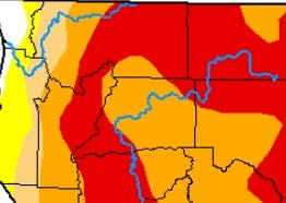 The U.S. Drought Monitor map shows much of the North State in either severe or extreme drought.