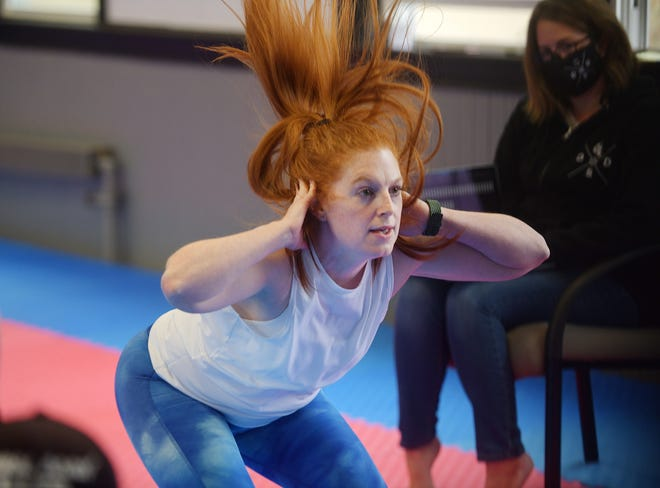 Katy Kellett, who is a native of Worcester, attempted to break Guinness World Record on squat jumps in one minute at Driven Self Defense in Grafton Sunday. By all accounts she achieved her goal, and it will take up to 12 weeks to be verified.