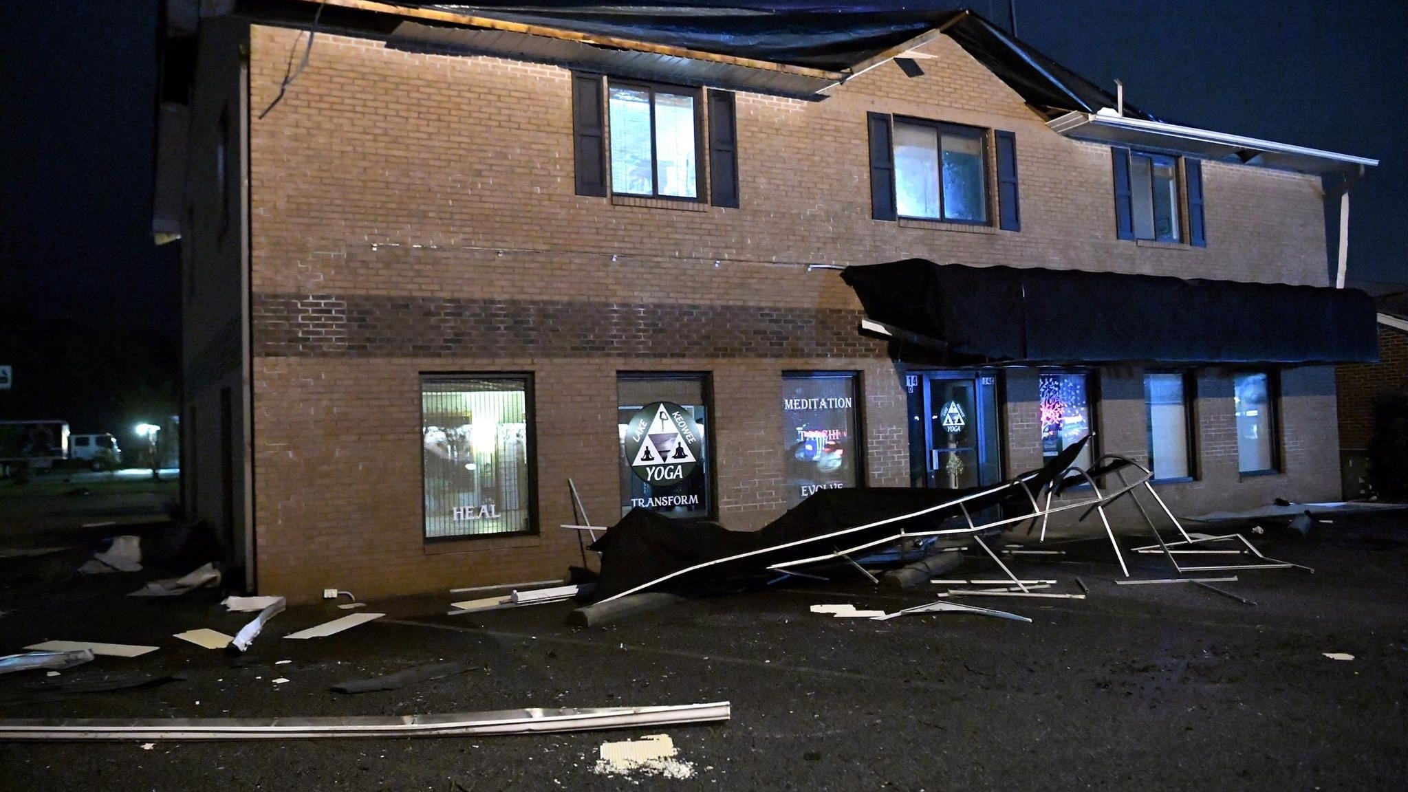 Storm damage, possible microburst reported in Seneca