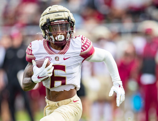 Keyshawn Helton has caught 42 receptions in his three seasons with the Seminoles, averaging 12.5 yards per reception with six touchdowns.