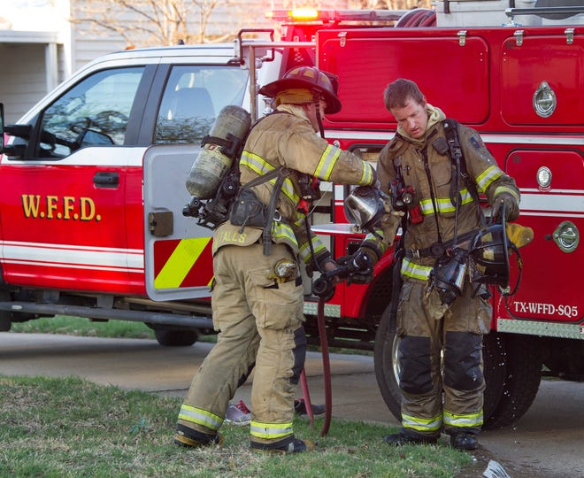 Wichita Falls Firefighters responded to a report of a structure fire Saturday afternoon at a home in the 3200 block of Hollywood Avenue.