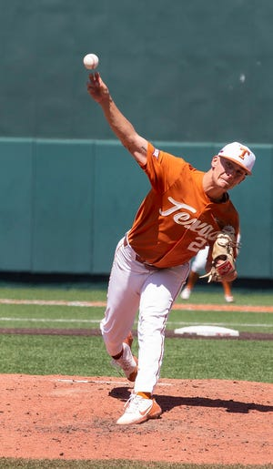 Texas pitcher Kolby Kubichek got the start in Saturday's 5-4 loss to Oklahoma State that eliminated the Longhorns from the Big 12 Tournament in Oklahoma City. He had been a part of UT's weekend rotation until late in the regular season.