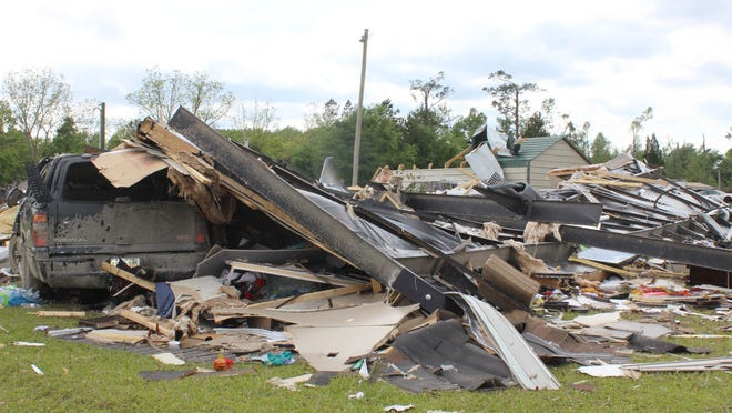 This is what was left of Florence Kennerly's Estill home following the April 13, 2020 tornado that changed her family's lives forever.