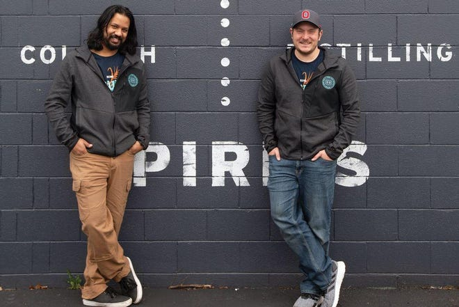 Echo Spirits Distilling Co. founders Nikhil Sharoff, left, and Joe Bidinger