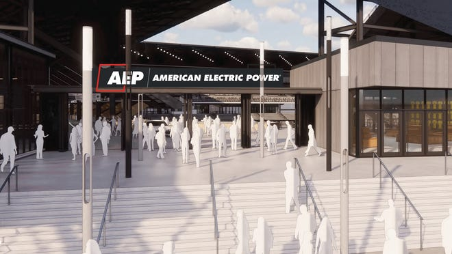 The AEP southeast gate at the new Crew Stadium, which is scheduled to open July 3.