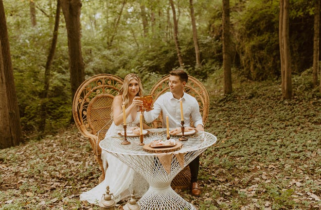 Scenes from Thyme & Details sustainable weddings
