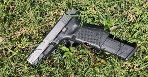 Handgun found at C.M. Washington Elementary School Monday in Thibodaux.