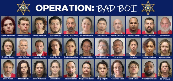 A list of all the suspects charged in Operation Bad BOI.