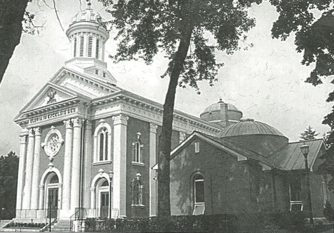 St Joseph's Catholic Church at 415 Ormsby St., Adrian, is shown as it appeared in 1999 after a major renovation and the addition of the new Baptistry.