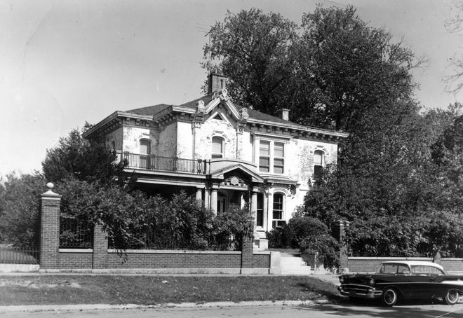 Surrounded by a brick fence that still stands, the Pattee/Tubbs Mansion at 316 East Broadway was razed in 1964 to make way for Warfield Manor apartments.