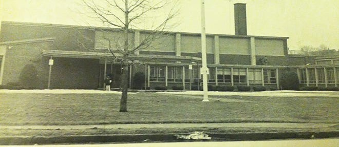 Gardner Junior High School in the 1970s.