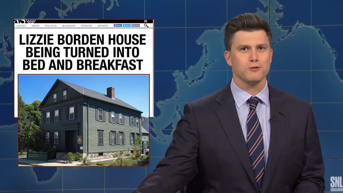 """Fall River's Lizzie Borden Bed and Breakfast makes \"""" saturday night live\"""" weekend update"""