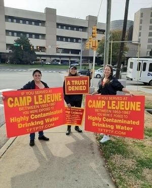 Camp Lejeune toxic water survivors at a past outreach event.