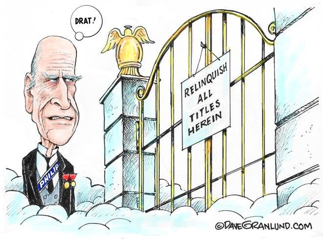 Dave Granlund cartoon on Prince Philip's death