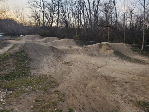 A BMX bike trail is being built at Milan's Nature Park.