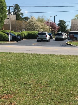 Police surrounded First United Methodist Church.