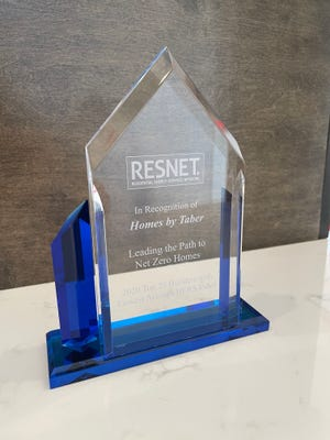 RESNET award presented to Homes By Taber.