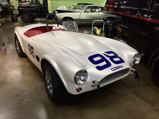 "The Ford Cobra from the film ""Ford v Ferrari."""