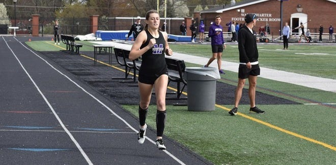 Kennady Gibbins broke the Mount Union women's heptathlon record and moved up to No. 1 in the national rankings this past weekend.
