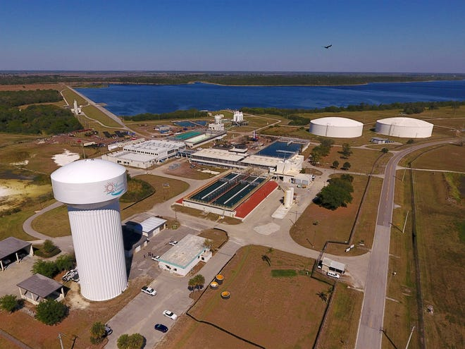A Manatee County water treatment plant.