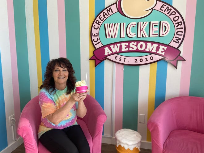 Michelle Noel, a New Hampshire native and Lakewood Ranch resident, opened Wicked Awesome Ice Cream Emporium in January.
