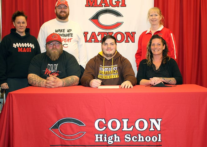 Brandon Crawford of Colon will continue his academic and football careers with Valparaiso University.