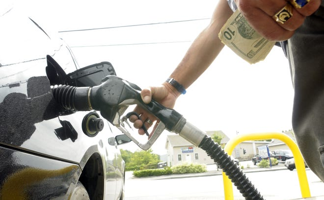 Gas prices in Worcester were averaging $2.70 per gallon Monday.