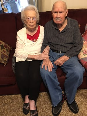 Bennie and Truman Guthrie have been married for 77 years.
