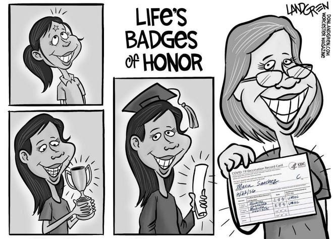 Life's badges of honor include vaccination card
