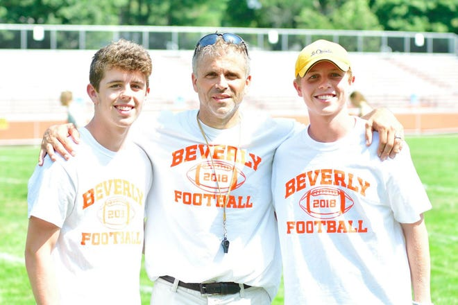 Since taking over the football program in 2016, Beverly coach Andrew Morency had the privilege of coaching his nephews Danny, left, the 2021 quarterback, and Kevin, the 2016 quarterback during his tenure that ended last month.