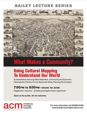 """The Amesbury Carriage Museum will host a virtual presentation """"What Makes Community"""" by Nate Robertson at 7 p.m. April 21."""