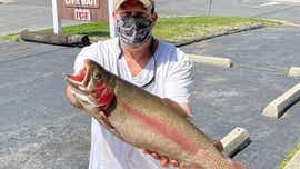 Spring Lake gives up 8-pound rainbow trout