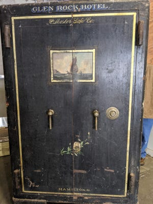 A nonprofit says this old safe, in the building on the old Glen Rock Hotel site, accidentally got locked and they need to open it.