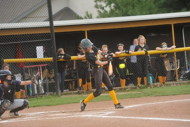 Colonel Crawford's Alivia Studer leads the area with seven home runs.