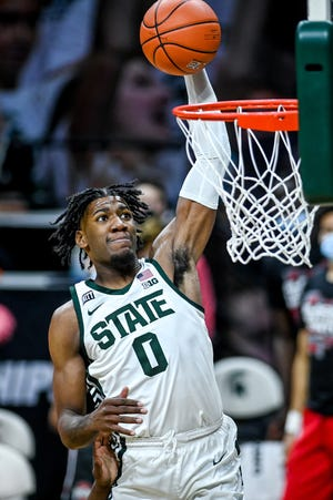 Aaron Henry is headed to the NBA Draft after a season in which he was All-Big Ten Conference third team and helped Michigan State back to the NCAA Tournament.